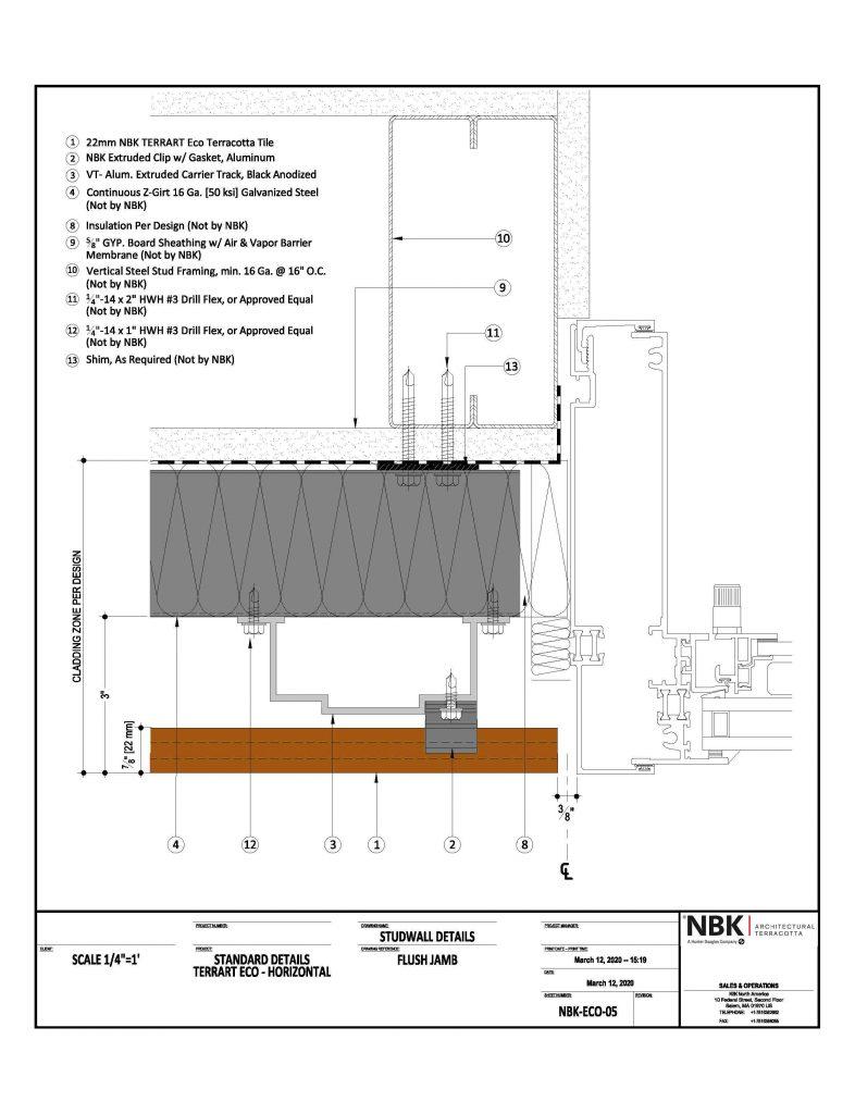 NBK-ECO-05_Horizonal - Flush Jamb