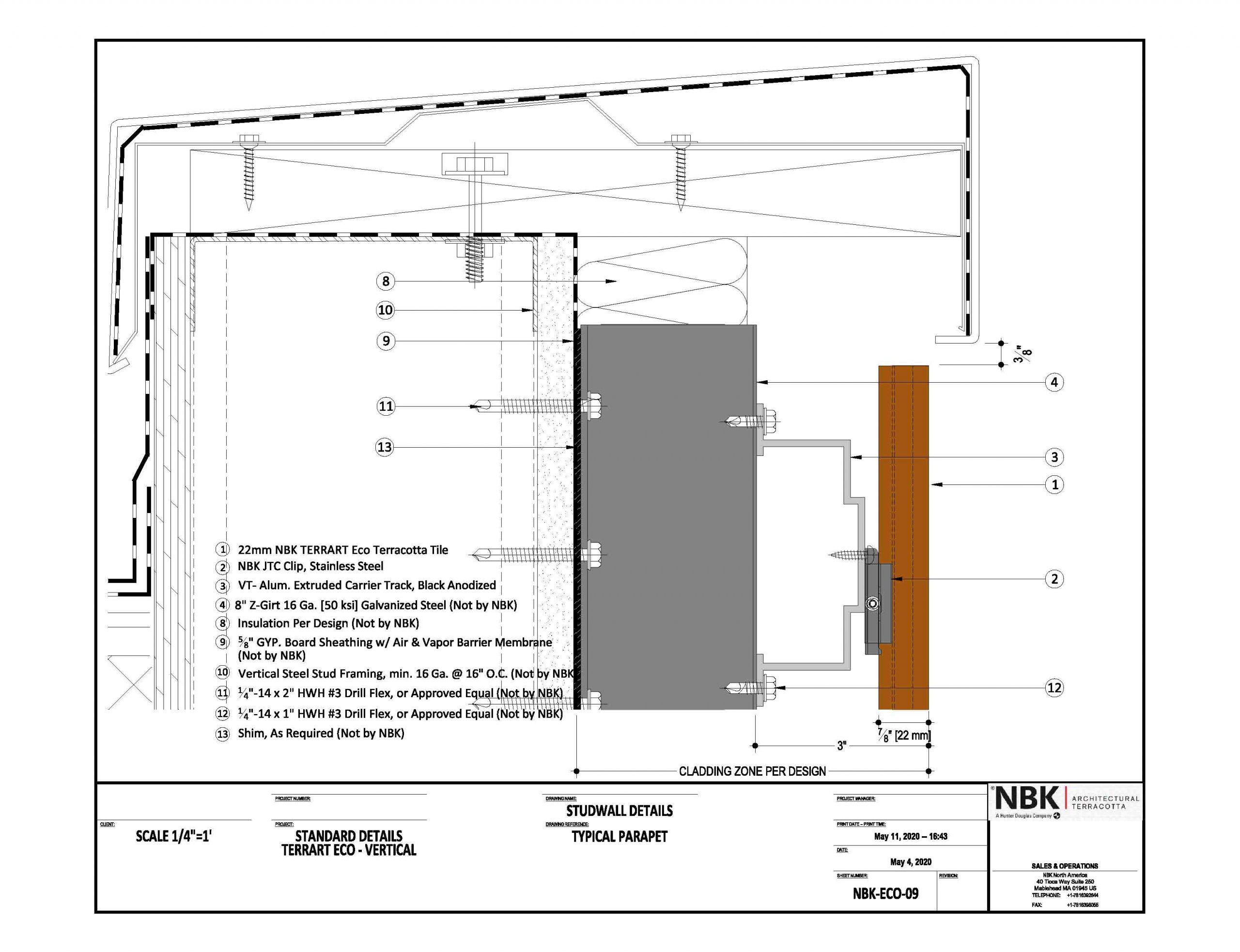 NBK-ECO-09_Vertical - Typical Parapet