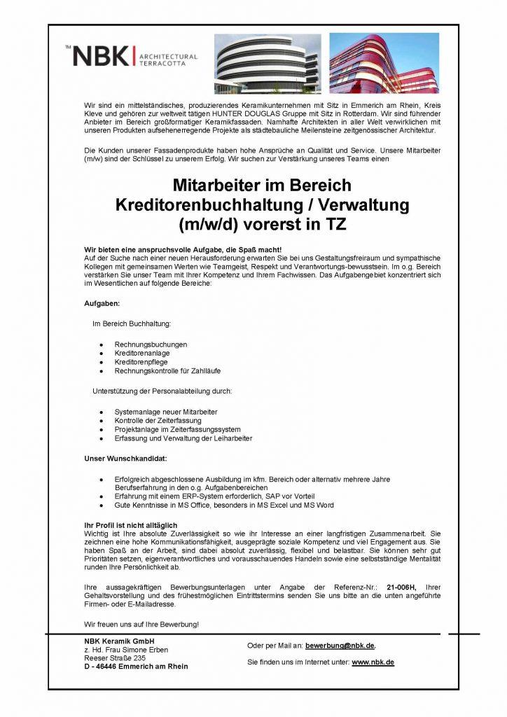 NBK Keramik Kreditoren Buchhaltung