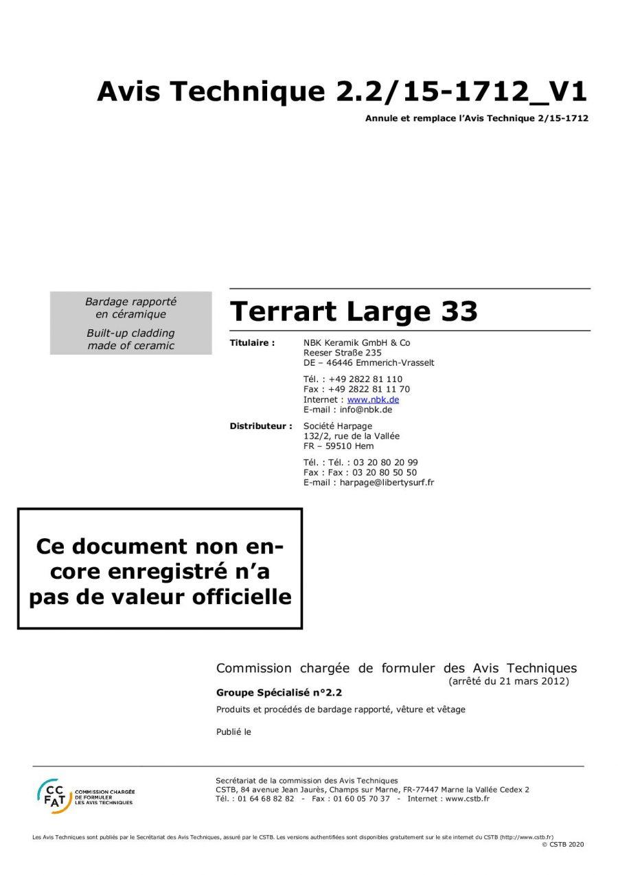 CSTB AT TERRART-LARGE33 V