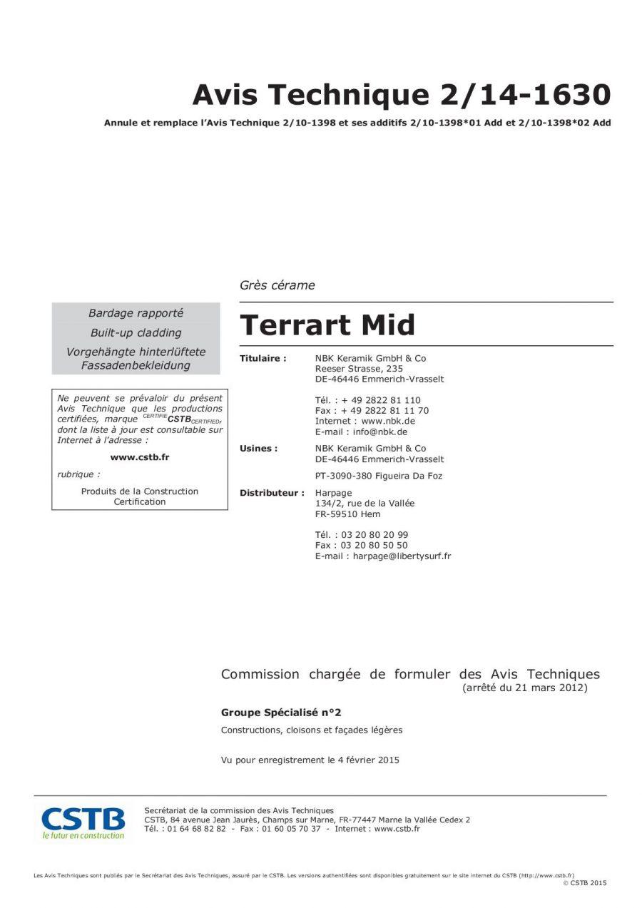 CSTB AT TERRART-MID