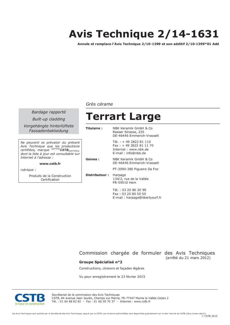 CSTB AT TERRART-LARGE